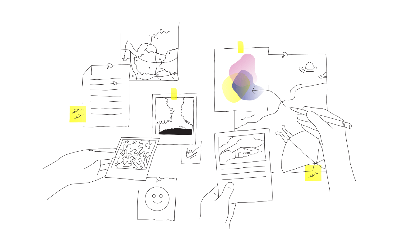Draussen Illustration Netzwek